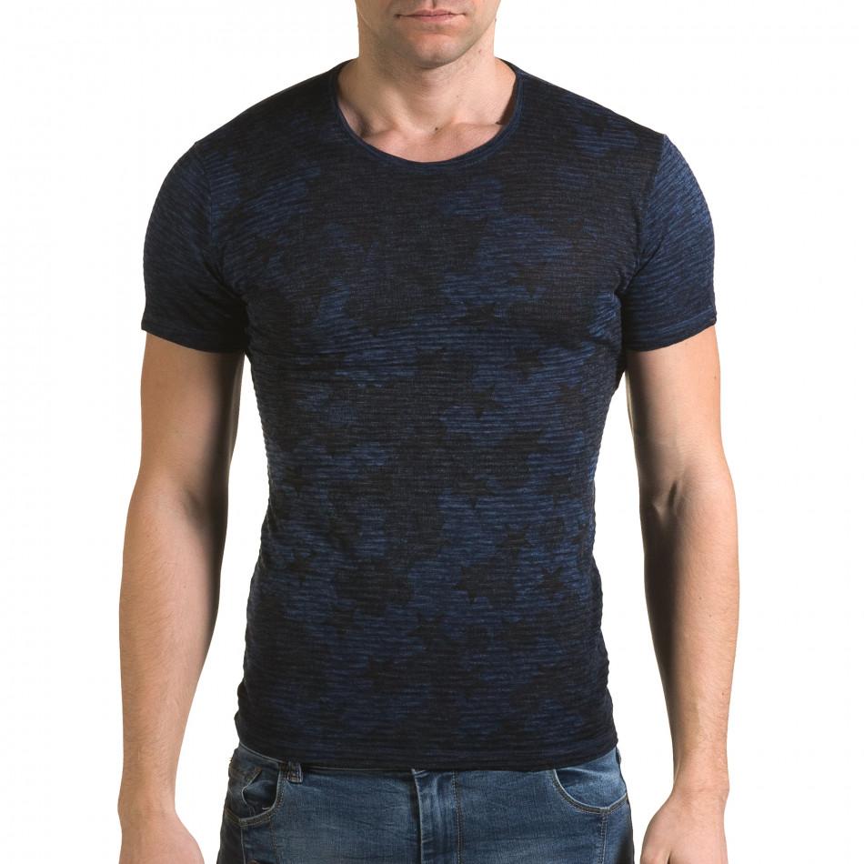 Tricou bărbați Lagos albastru il120216-48