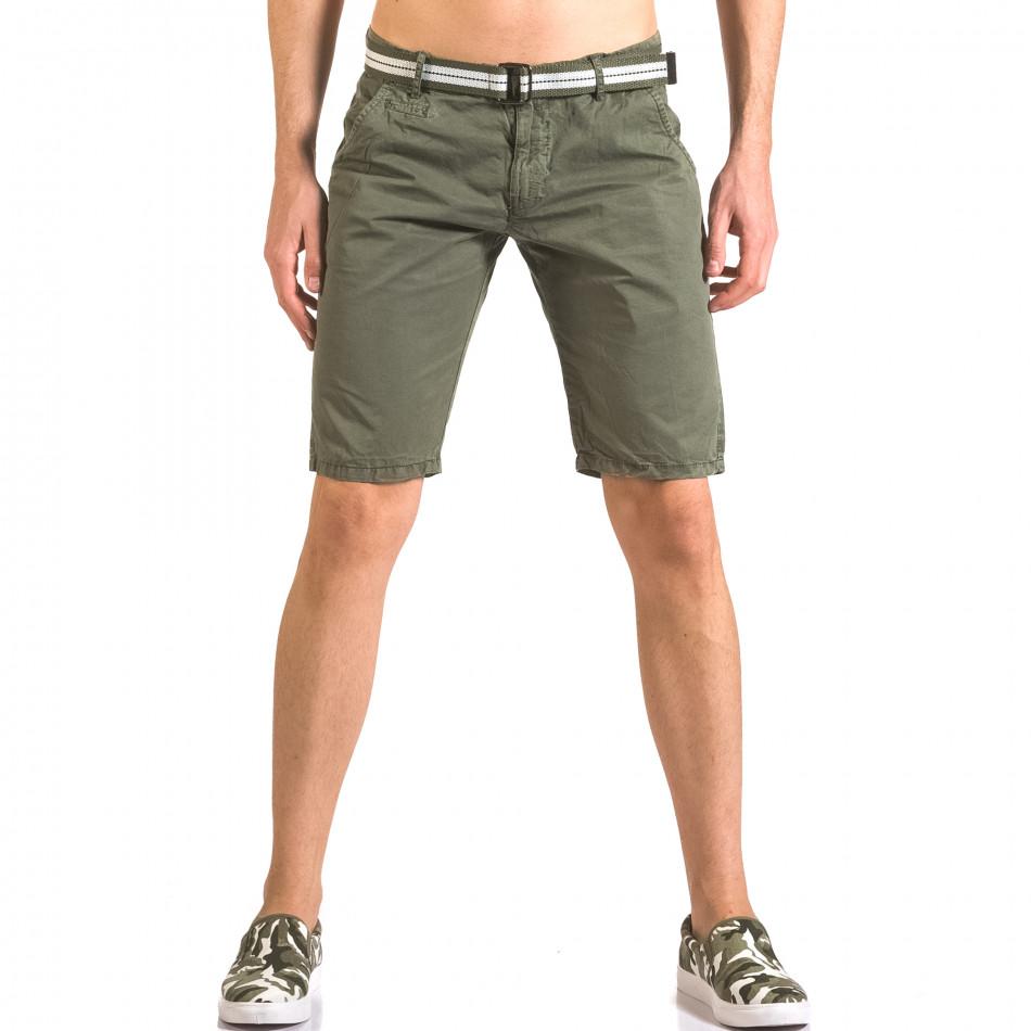Pantaloni scurți bărbați Top Star verzi ca050416-64