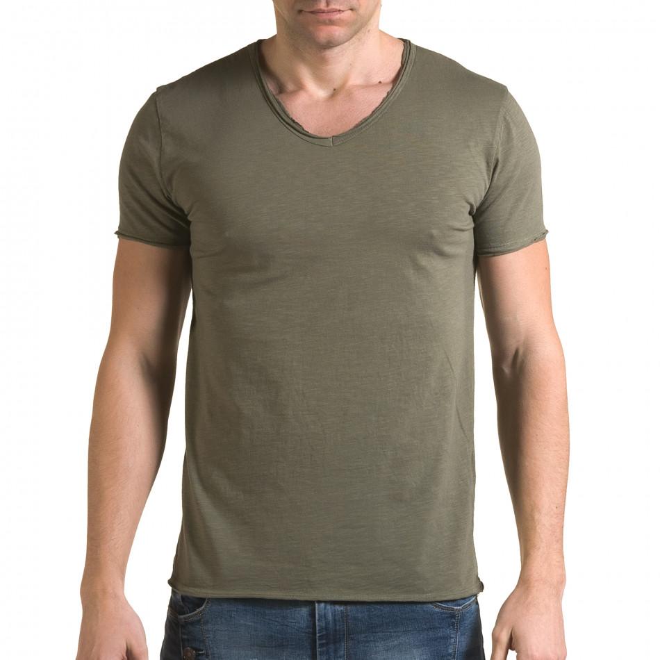 Tricou bărbați FM verde it090216-76