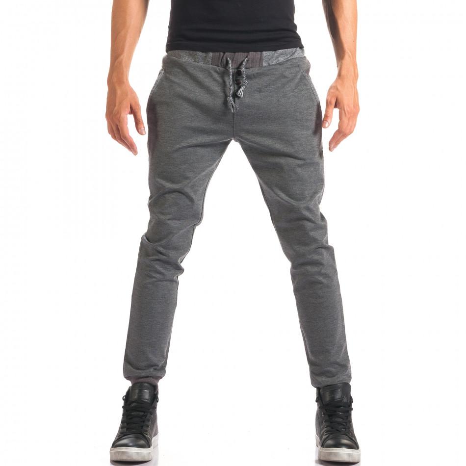 Pantaloni bărbați Jack Berry gri it150816-19