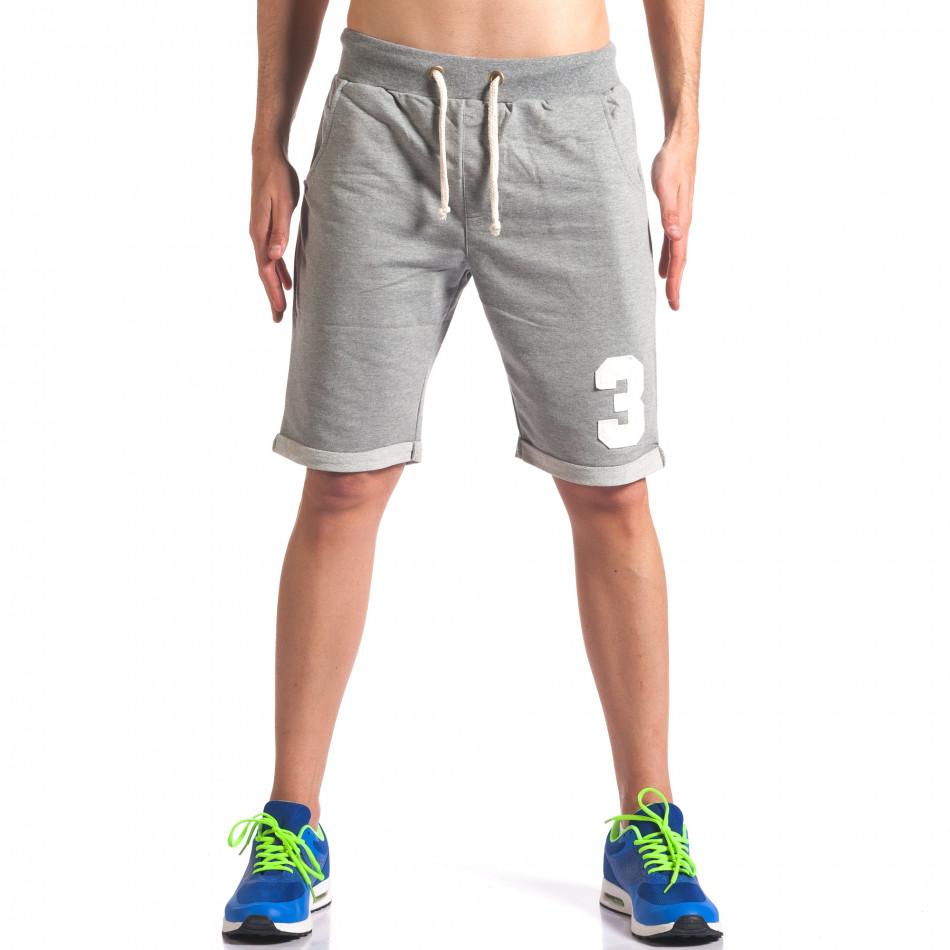 Pantaloni scurți bărbați New Men gri it260416-23