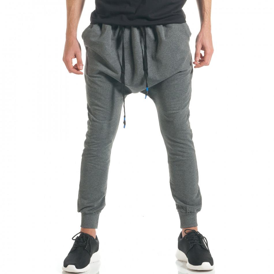 Pantaloni baggy bărbați Black Fox gri it300317-26