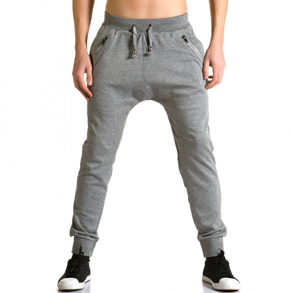 Pantaloni baggy bărbați Furia Rossa gri ca190116-17