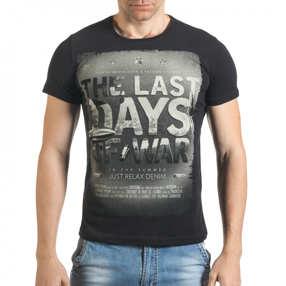 Tricou bărbați Just Relax negru il140416-23