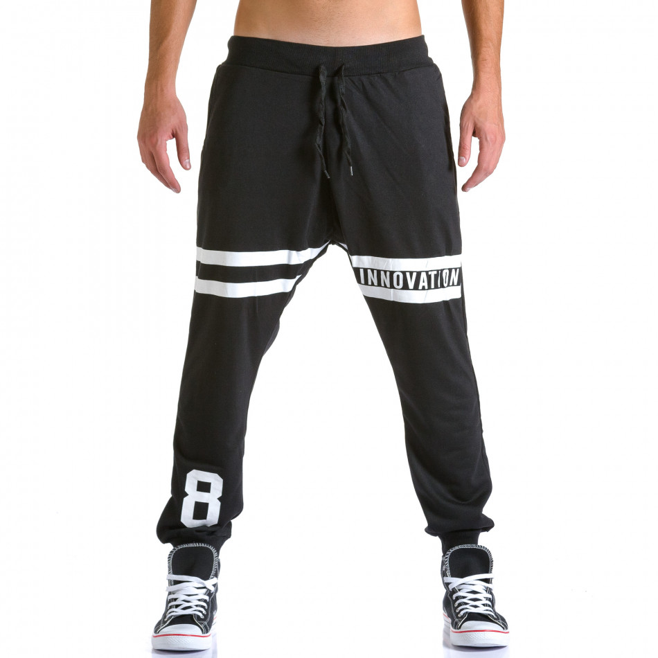 Pantaloni baggy bărbați Eadae Wear negri ca260815-30