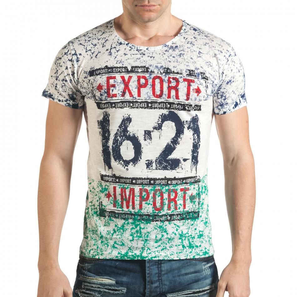 Tricou bărbați Lagos alb il140416-60