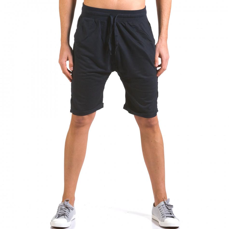 Pantaloni scurți bărbați Dress&GO albaștri it160316-23