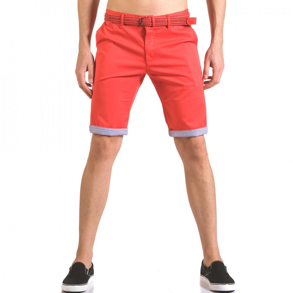 Pantaloni scurți bărbați Baci & Dolce roșii ca050416-55