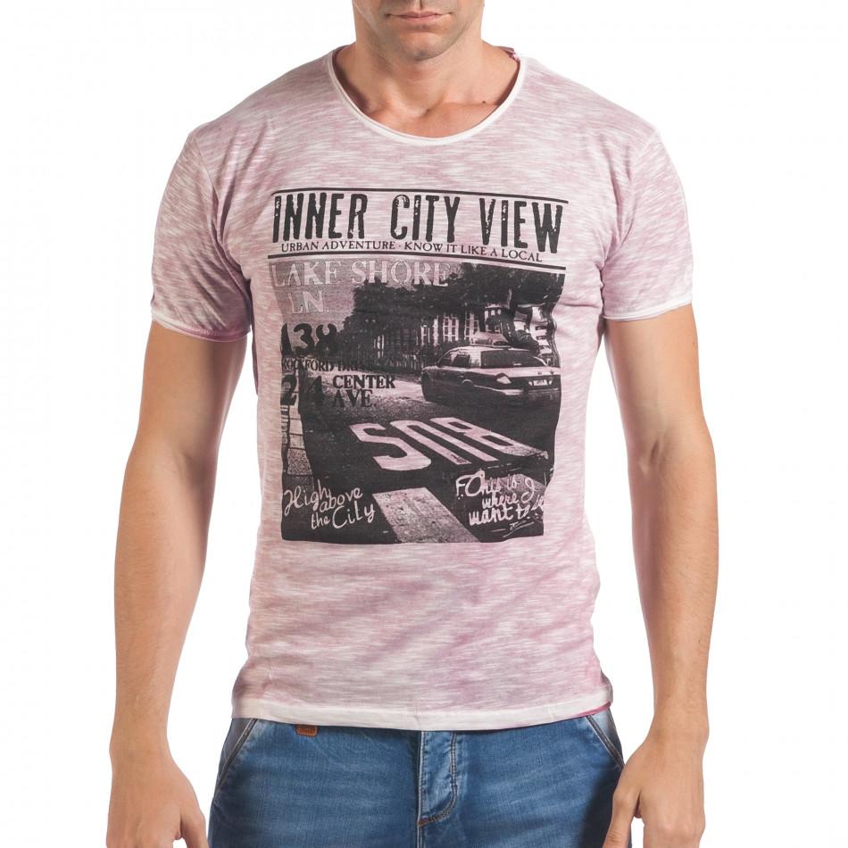 Tricou bărbați Lagos roz il060616-41
