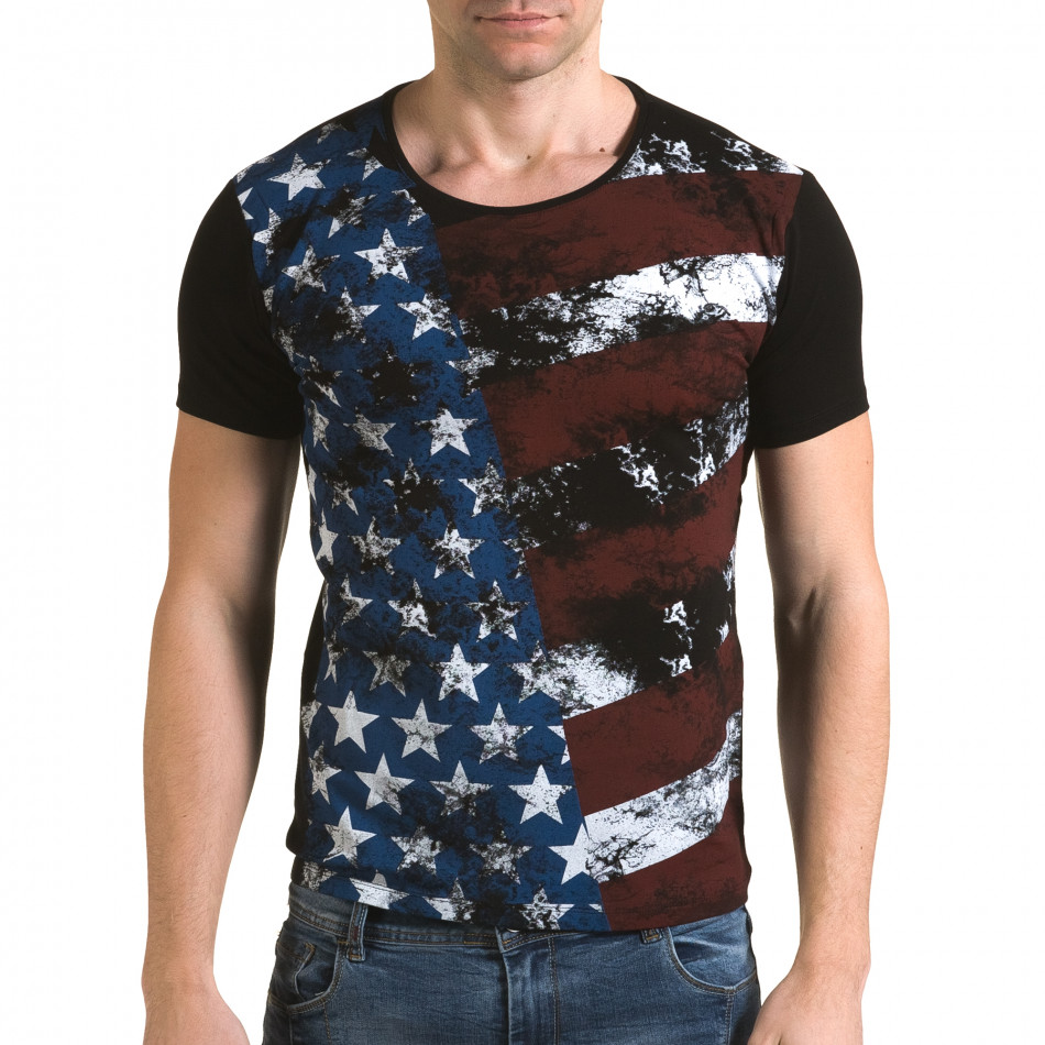 Tricou bărbați Lagos negru il120216-11