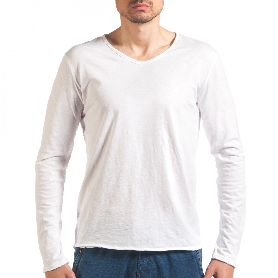 Bluză bărbați Man albă it260416-51