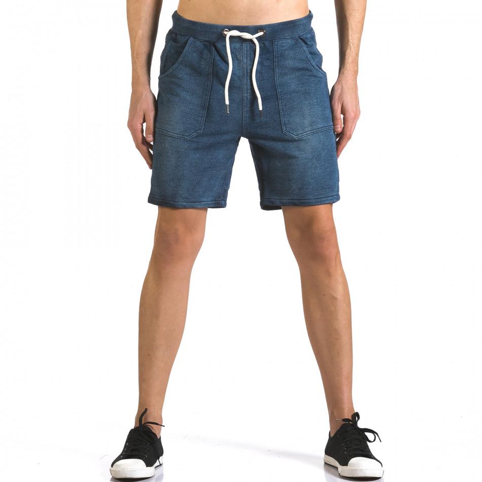 Pantaloni scurți bărbați Bread & Buttons albaștri it110316-79