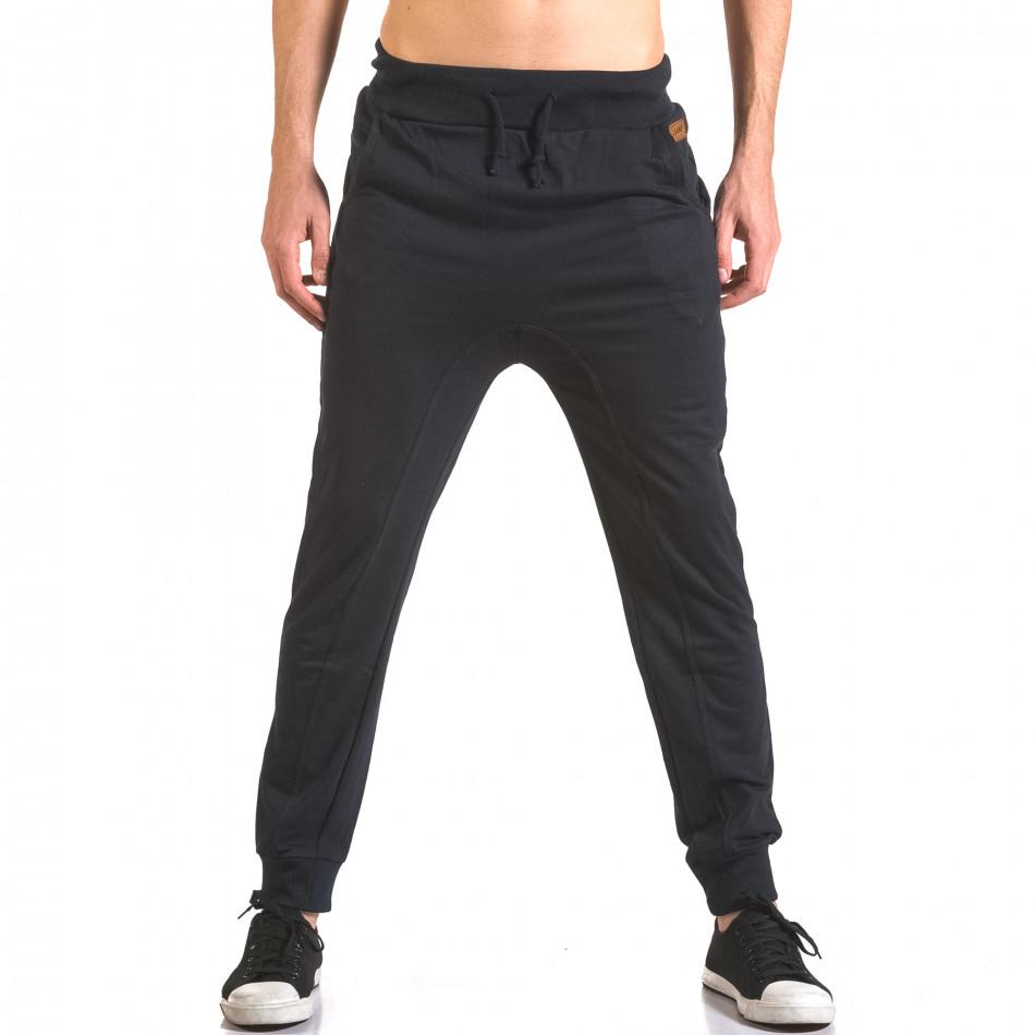 Pantaloni baggy bărbați B-Men albaștri ca050416-53