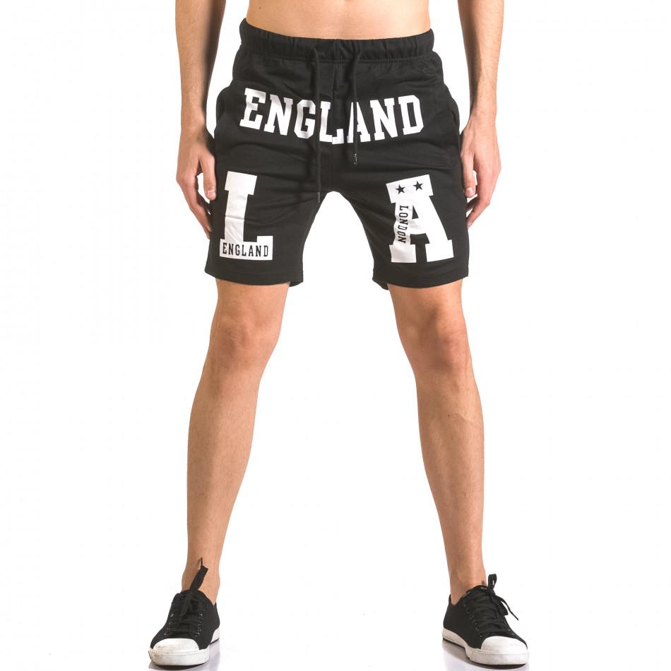 Pantaloni scurți bărbați Furia Rossa negri ca050416-37