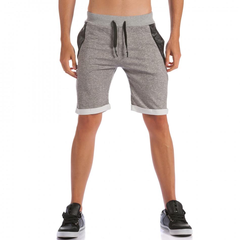 Pantaloni scurți bărbați Belman gri ca100615-19