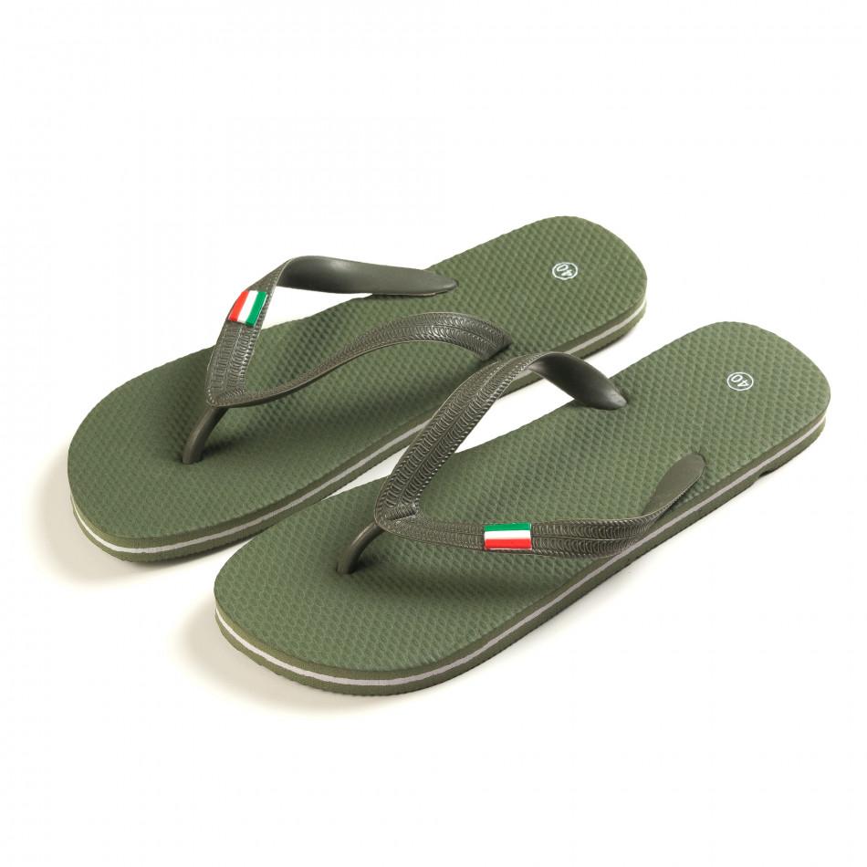 Papuci bărbați FM verzi it150616-6