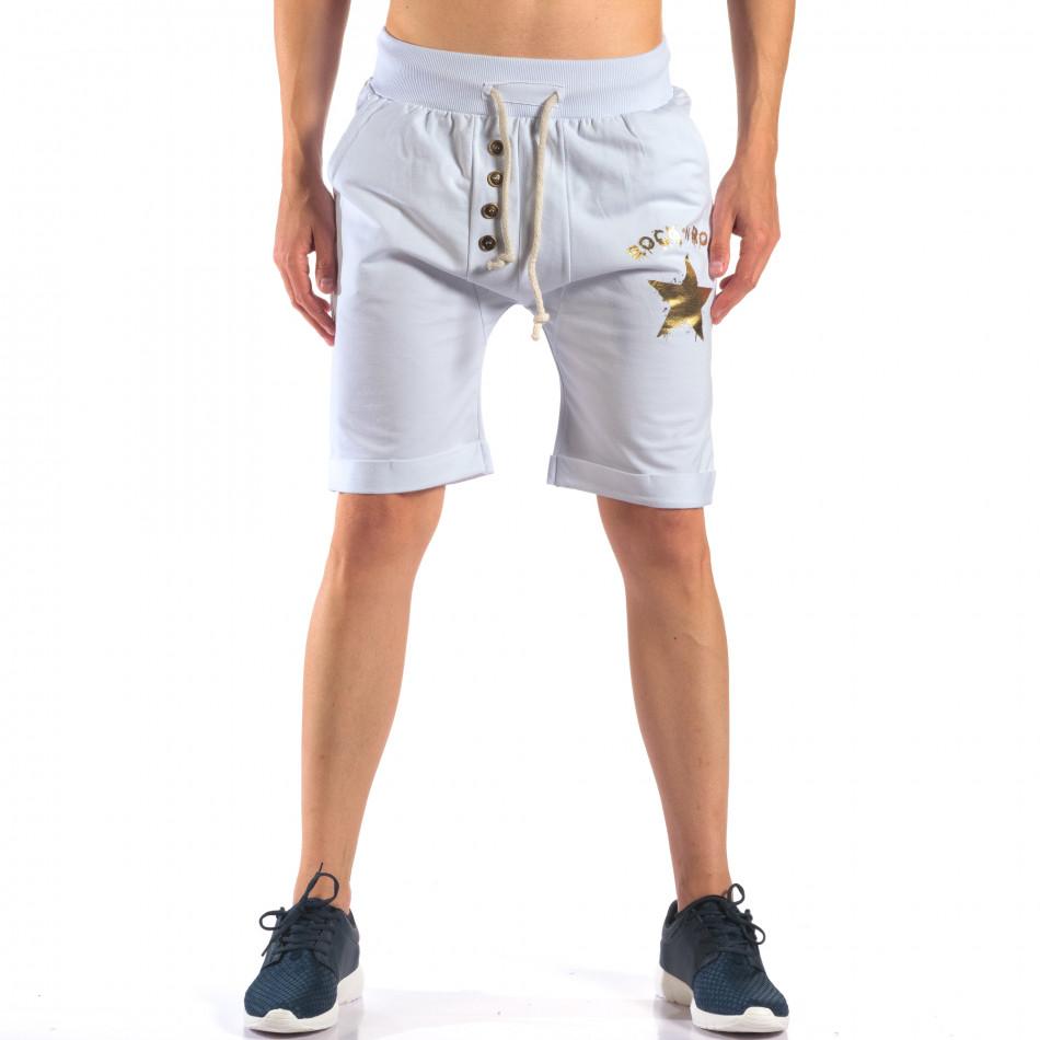 Pantaloni scurți bărbați Black Fox albi it160616-13