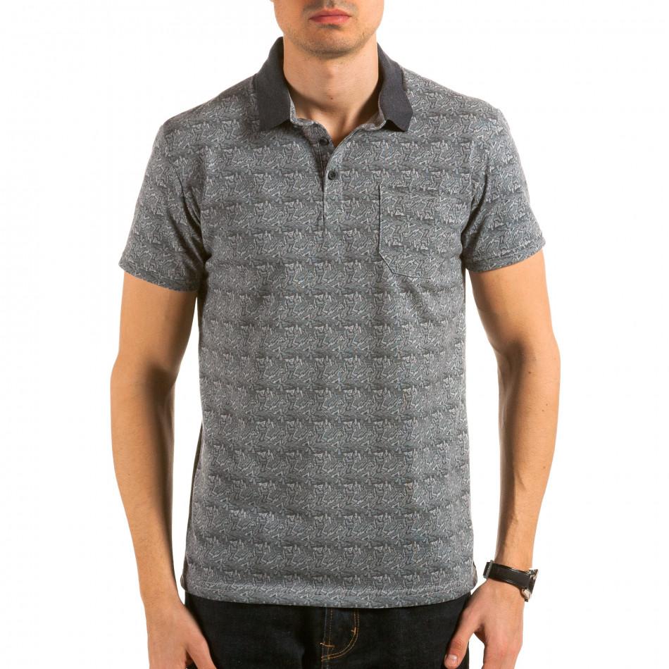 Tricou cu guler bărbați Catch gri il180215-105