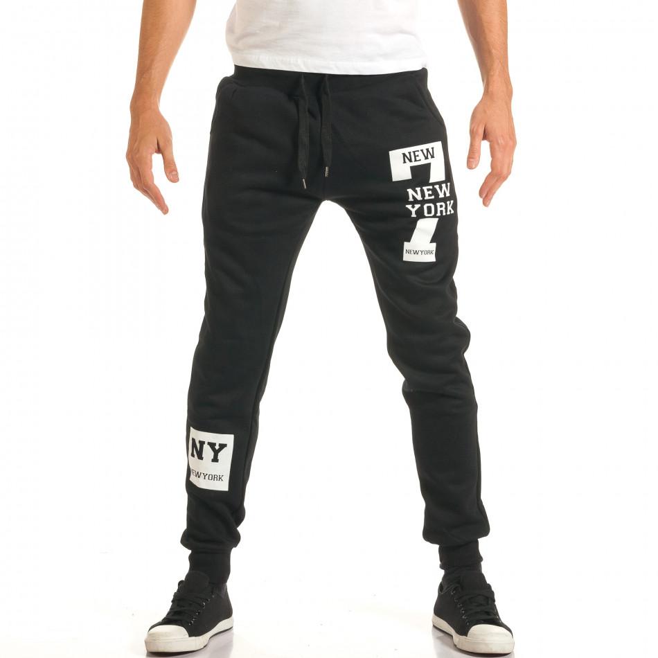 Pantaloni bărbați New Mentality negru it191016-17