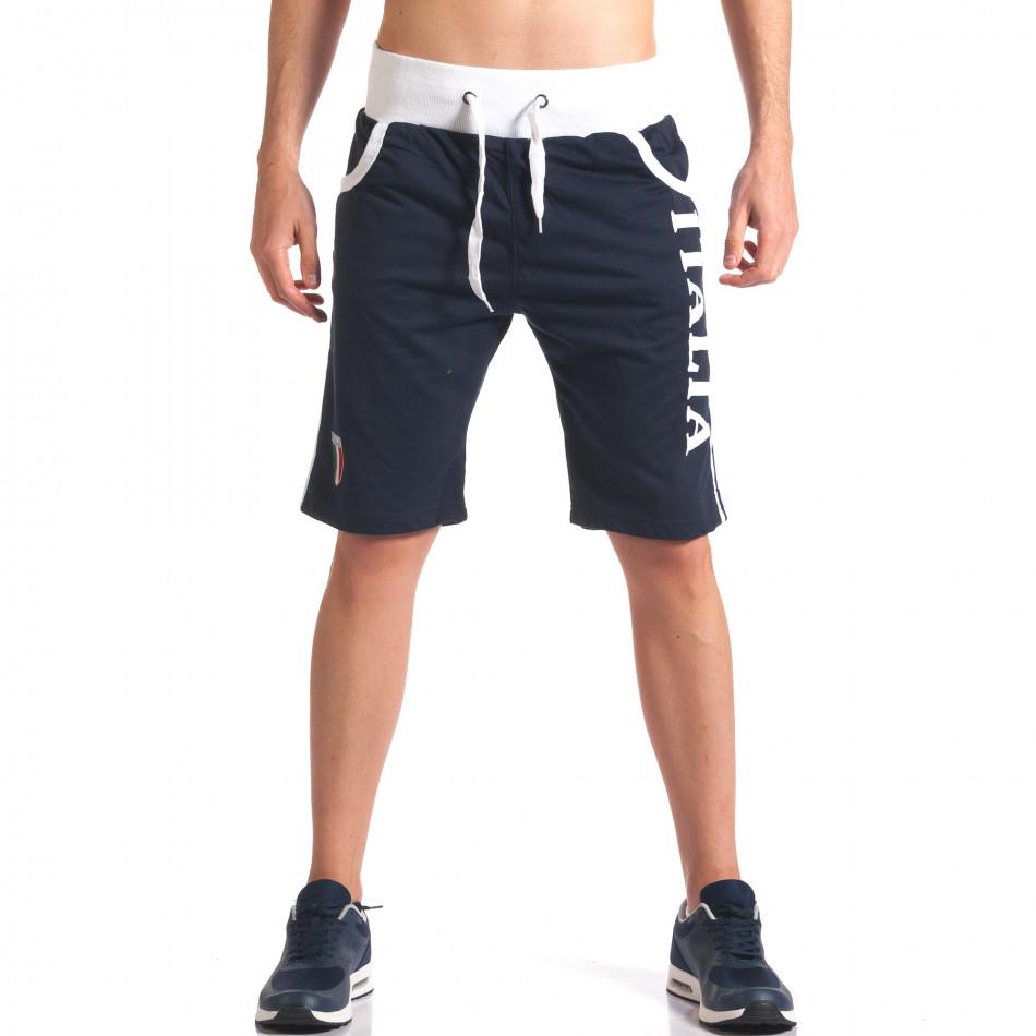 Pantaloni scurți bărbați Dress&GO albaștri it260416-16