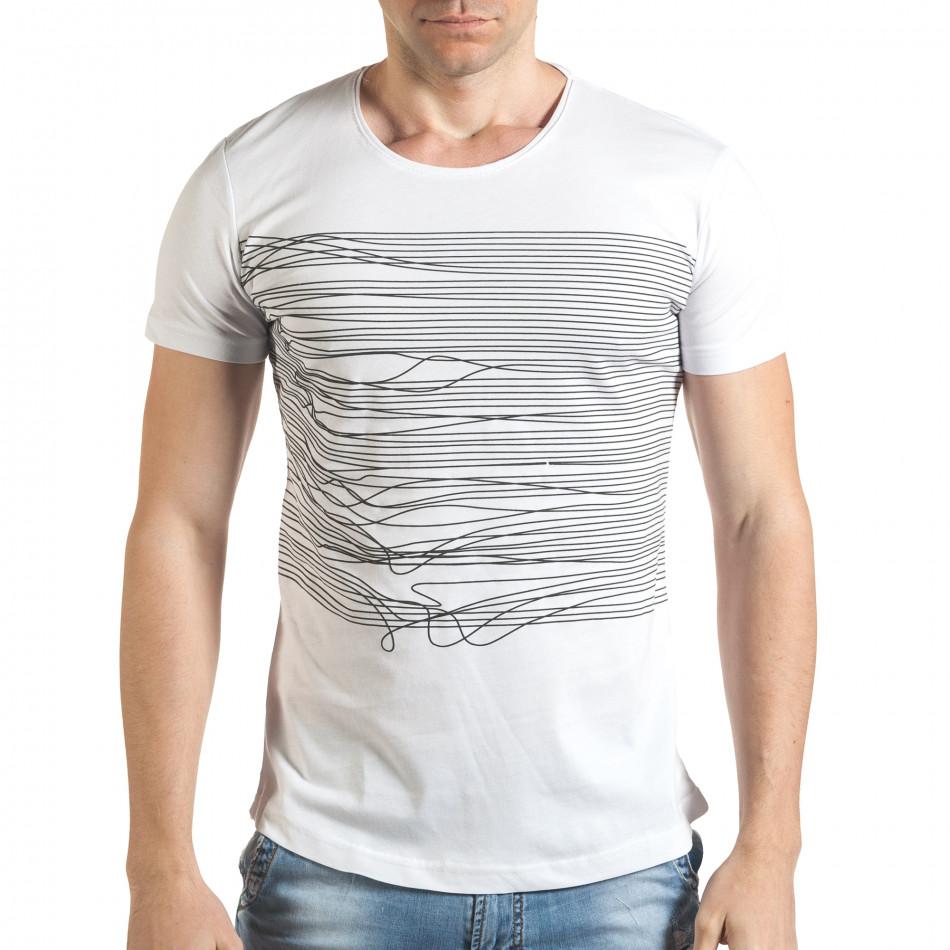 Tricou bărbați Eksi alb il140416-3