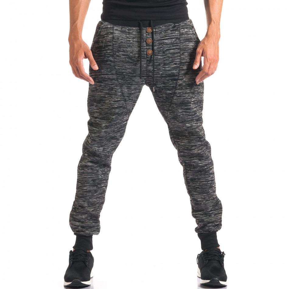 Pantaloni baggy bărbați Urbaboy gri it160816-33