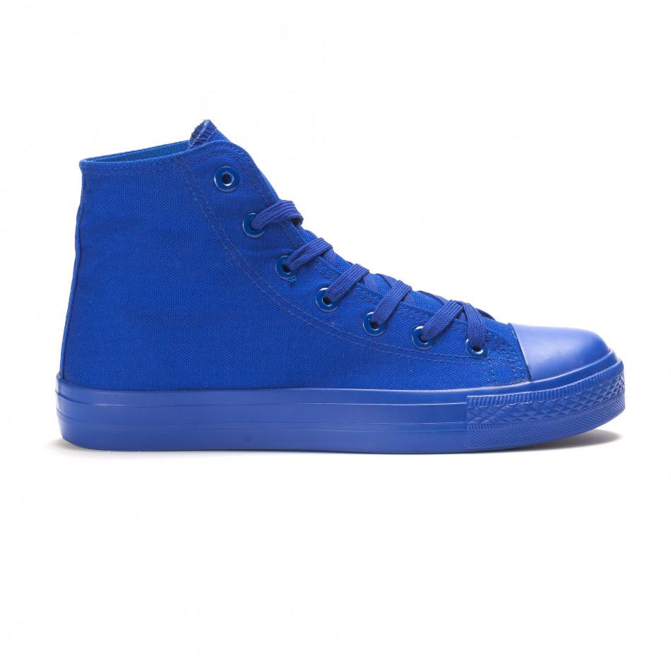 Teniși înalți albaștri pentru bărbați it090616-29