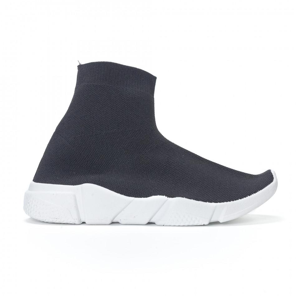 Pantofi sport slip-on tip șoseta de dama negri it230418-34 ... 9480e07e7d