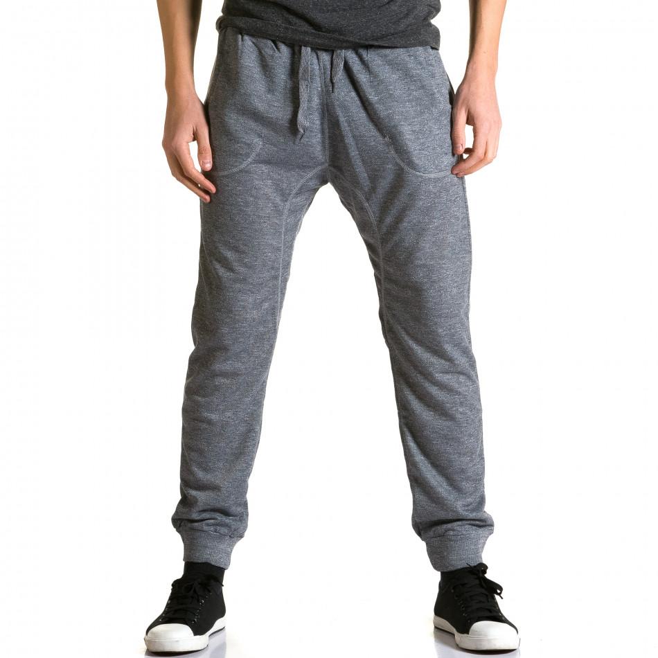 Pantaloni baggy bărbați Dress&GO gri ca190116-28