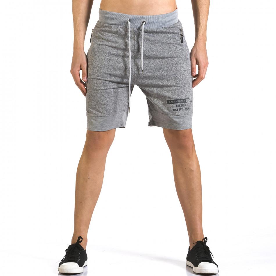 Pantaloni scurți bărbați Furia Rossa gri it110316-76