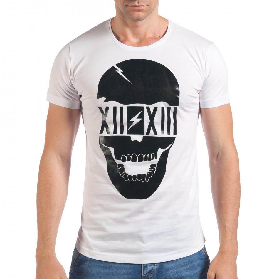 Tricou bărbați Eksi alb il060616-74
