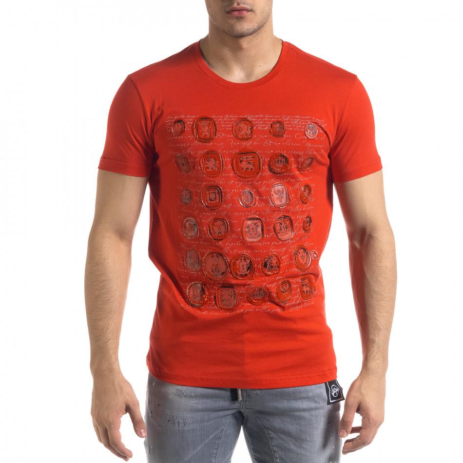 Tricou bărbați SAW roșu tr110320-8