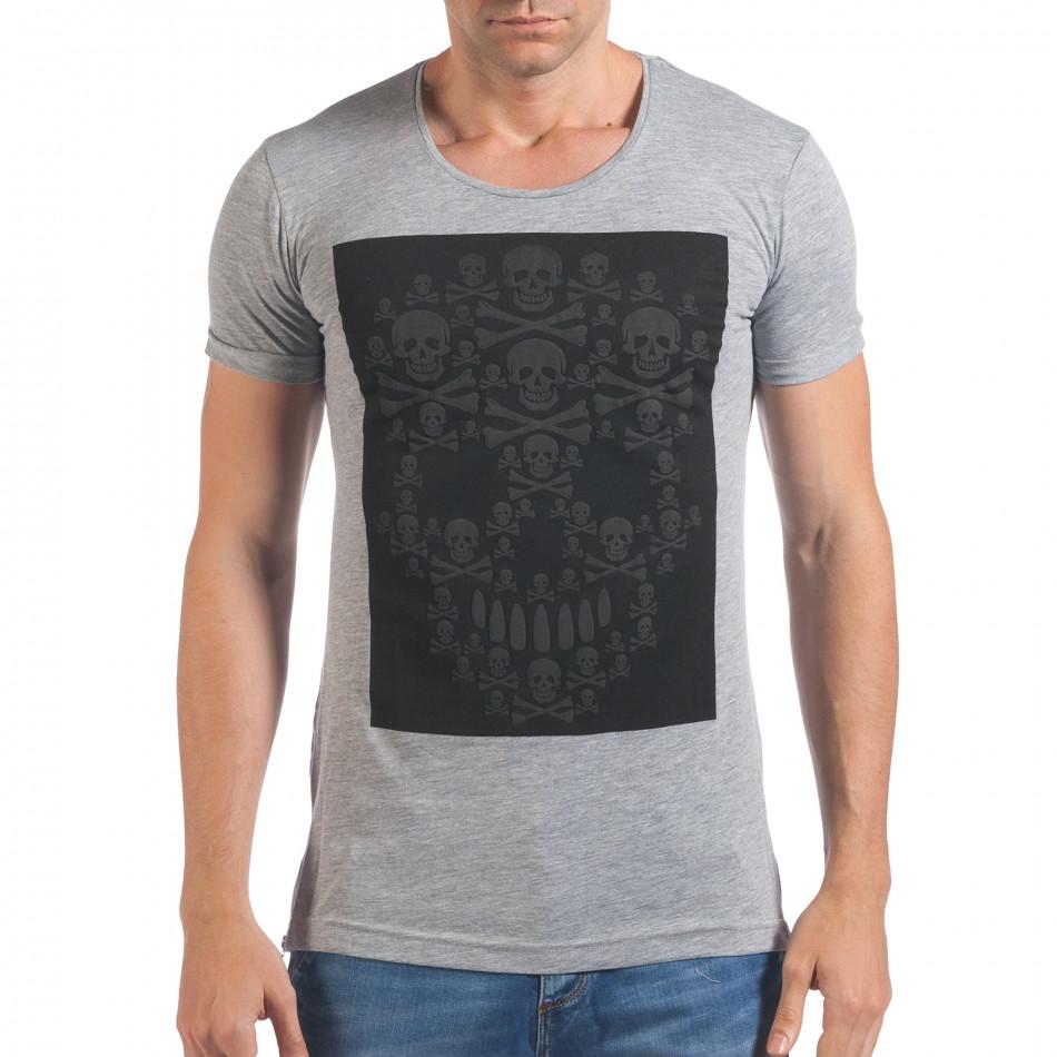 Tricou bărbați Eksi gri il060616-79