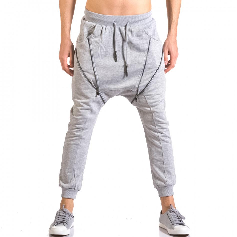 Pantaloni baggy bărbați Devil Slayer gri ca050416-49