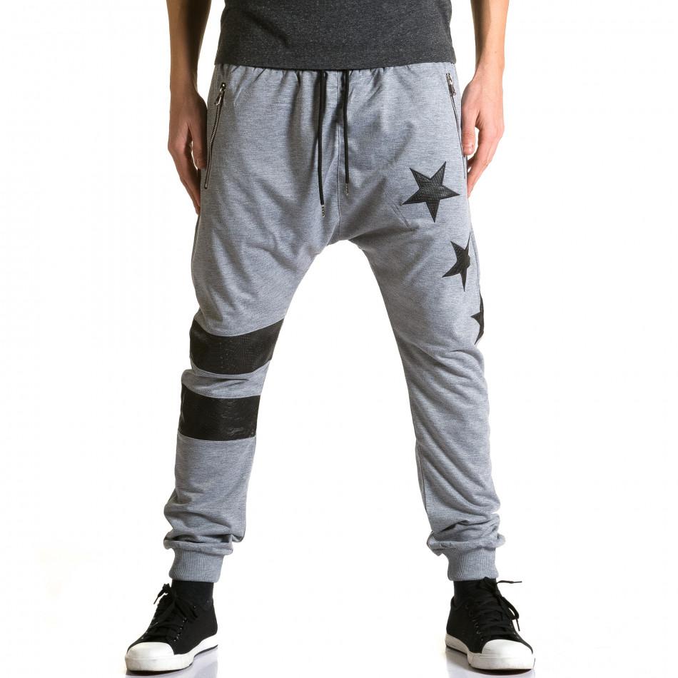 Pantaloni baggy bărbați Jack Davis gri ca190116-20