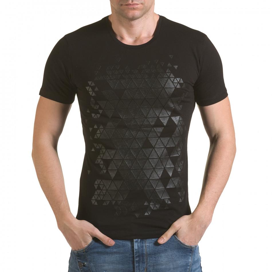 Tricou bărbați SAW negru il170216-56