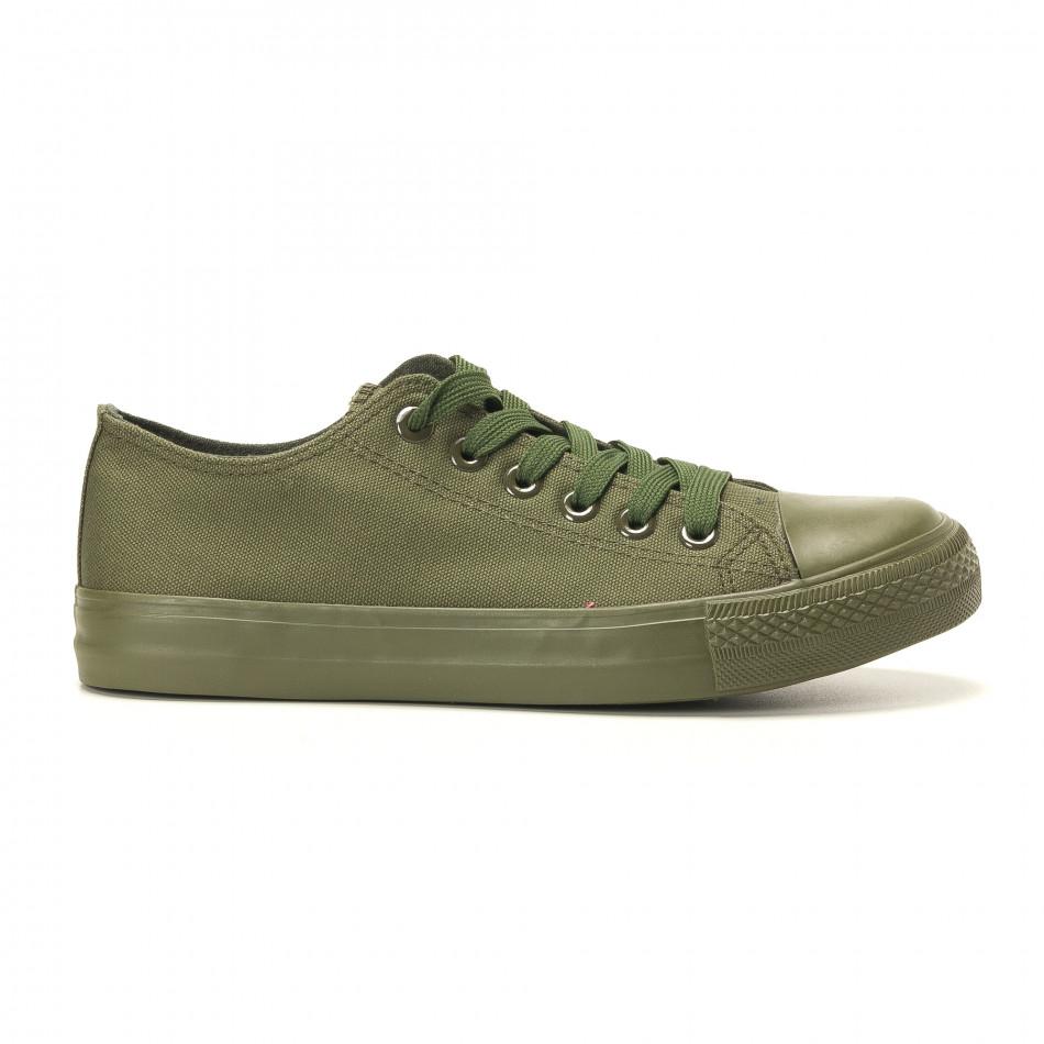 Teniși în verde militar pentru bărbați it260117-33