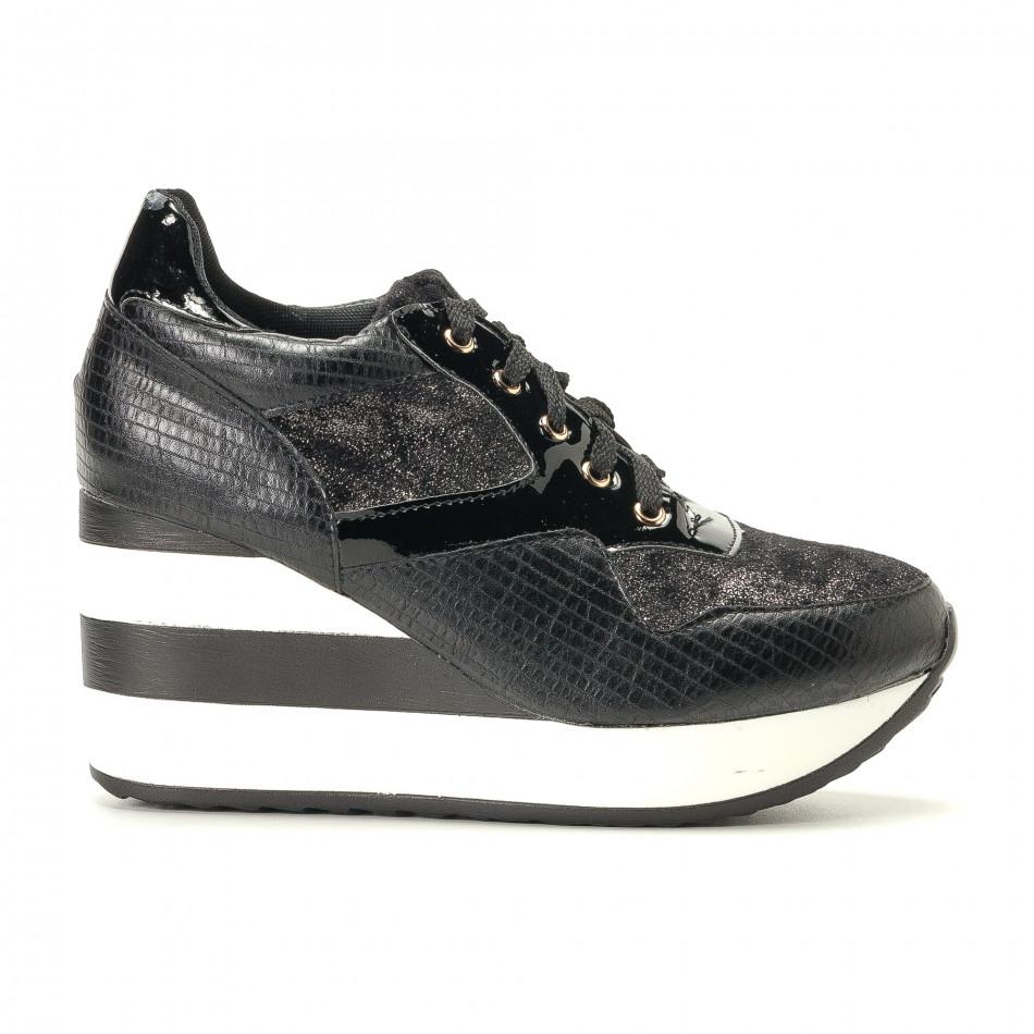 Pantofi sport de dama Sergio Todzi neagră it200917-29
