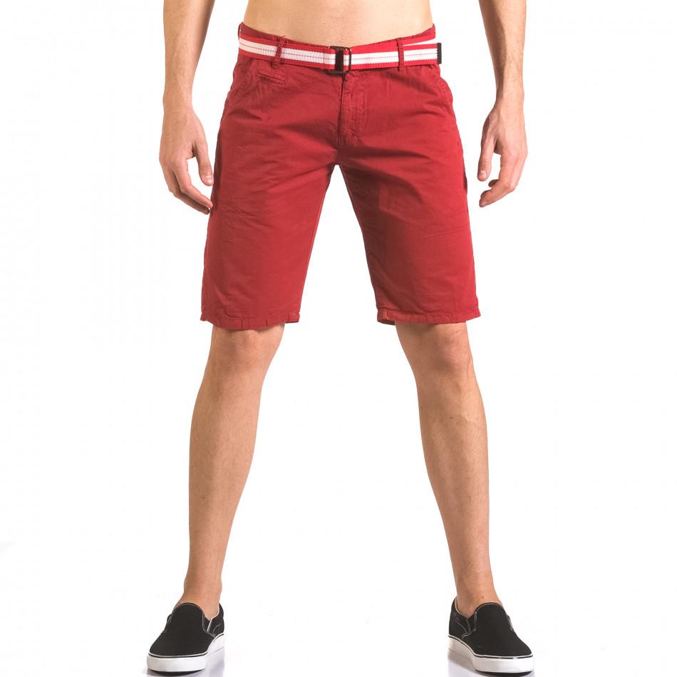 Pantaloni scurți bărbați Top Star roșii ca050416-67