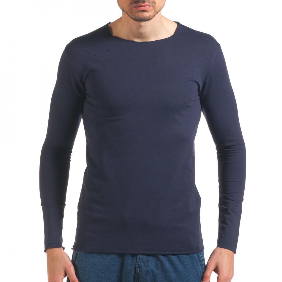 Bluză bărbați Wilfed albastră it250416-81