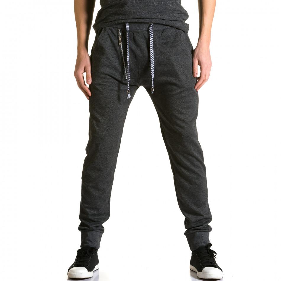 Pantaloni baggy bărbați Furia Rossa negri ca190116-16