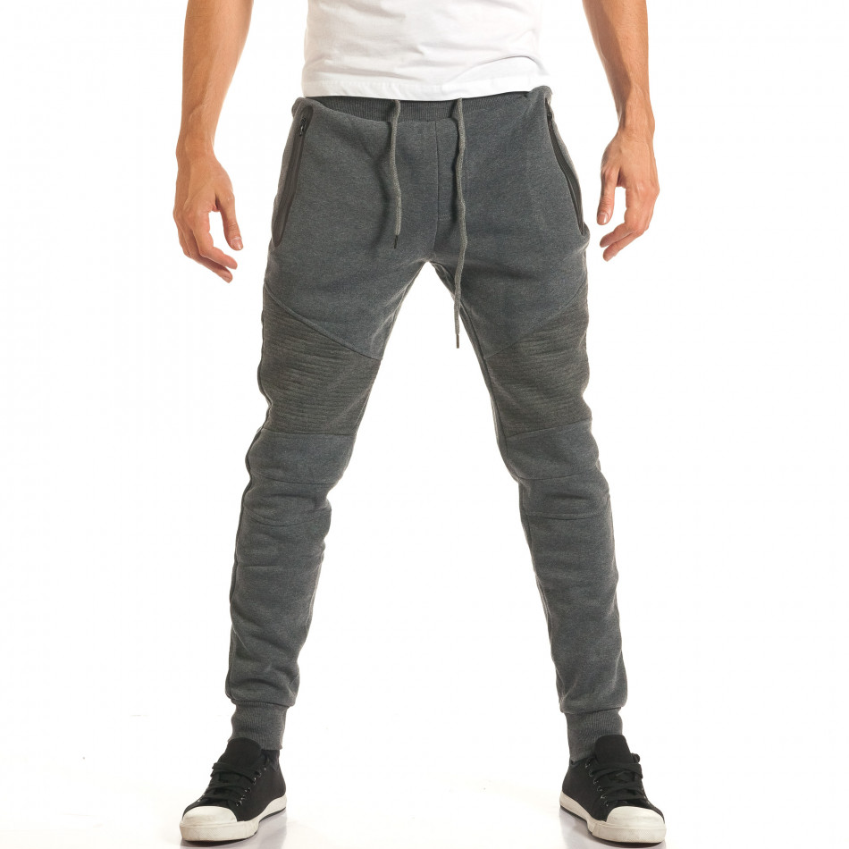 Pantaloni bărbați Top Star gri it191016-3