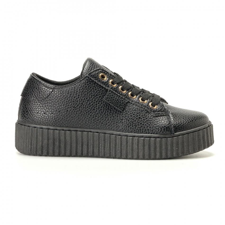 Teniși de dama Ideal Shoes neagră it200917-57