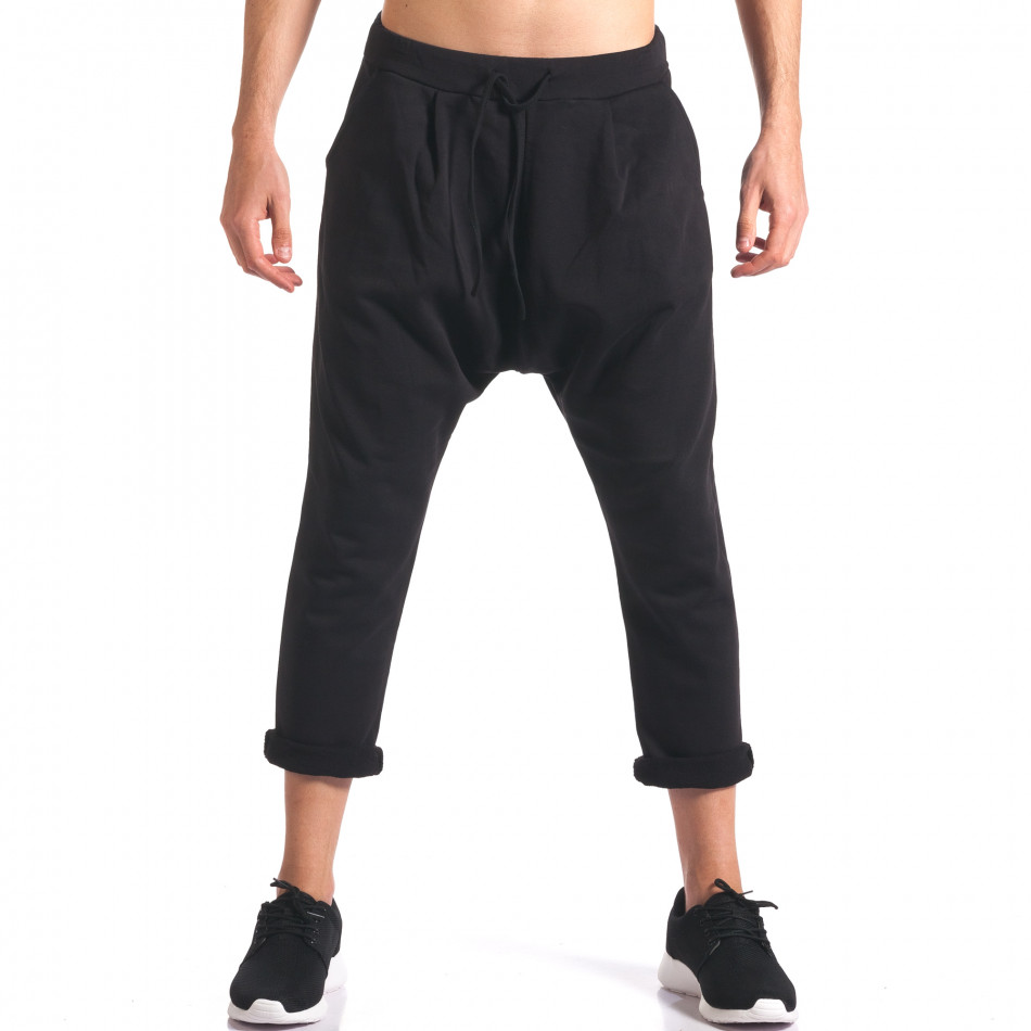 Pantaloni baggy bărbați FCSM negri it260416-35