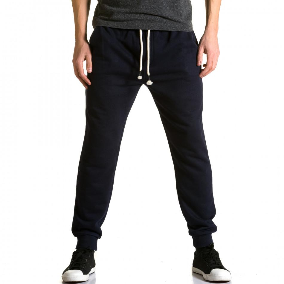 Pantaloni baggy bărbați Enos albaștri ca190116-32