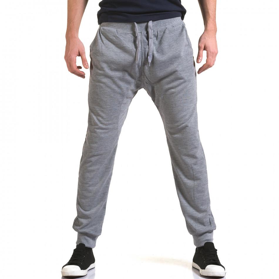 Pantaloni baggy bărbați Dress&GO gri it090216-38