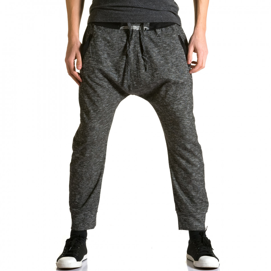 Pantaloni baggy bărbați Max & Jenny gri ca190116-23