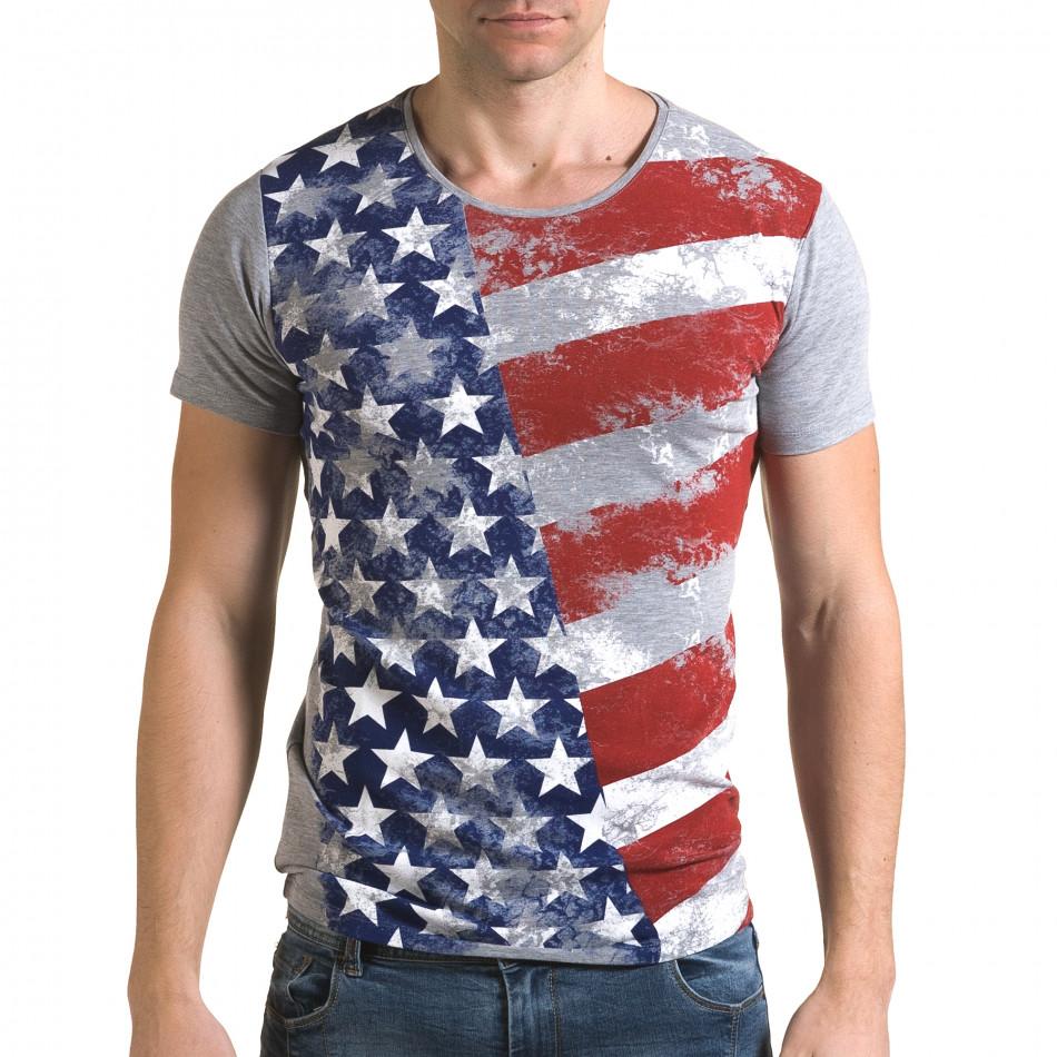 Tricou bărbați Lagos gri il120216-12