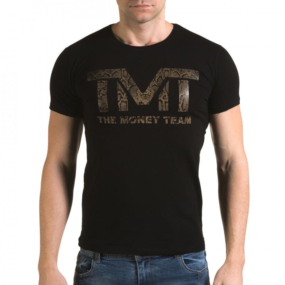 Tricou bărbați Glamsky negru il120216-64