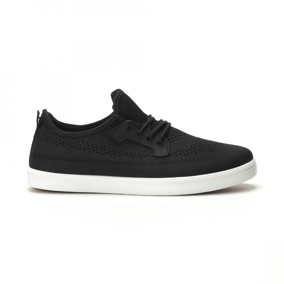Pantofi sport ușori în negru pentru bărbați it250119-14